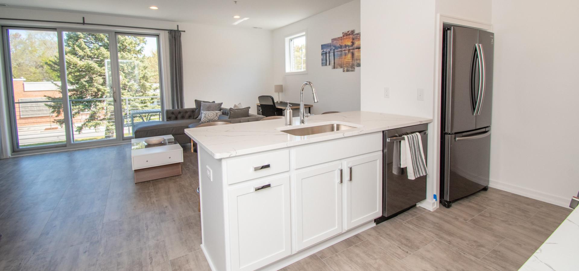 Live Well Apartments:  Open Floor Plan
